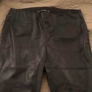 Zara black faux leather pant